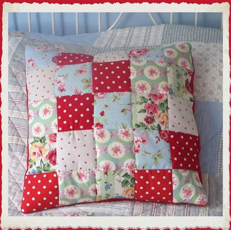 Patchwork Cushion Covers - quilted patchwork cushion cover pillow talk
