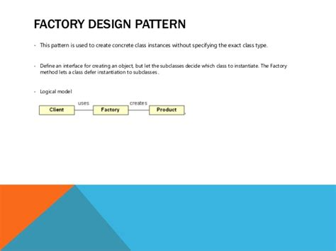 factory pattern types factory design pattern this