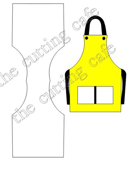 Apron Shaped Card Template by The Cutting Cafe Apron Shaped Card Set Template