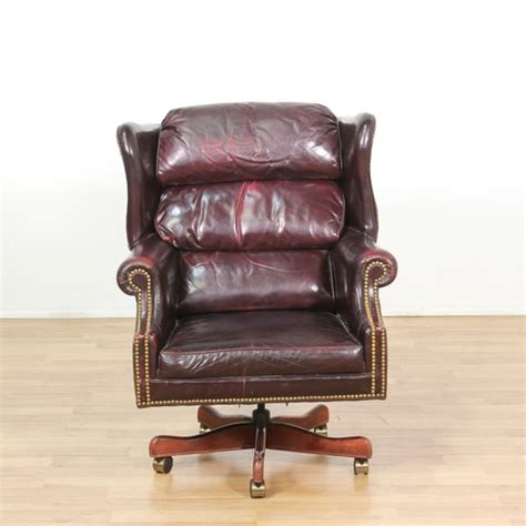 recliner chairs los angeles leather brass studded burgundy office chair loveseat