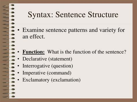 sentence pattern for questions ppt five elements of style diction imagery details