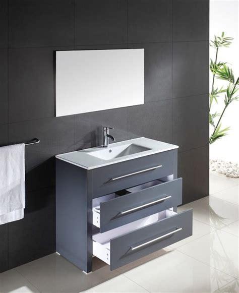 Bad Modern 5053 by Waschtisch Waschbecken Anthrazit Modern Badezimmer