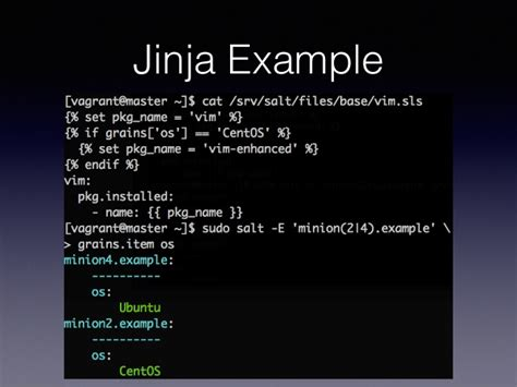 jinja templates introduction to systems management with saltstack