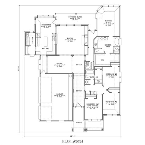 Large 1 Story House Plans by Single Story House Designs Large Single Story House Plans