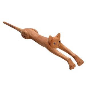 Monogram Barware Cat Shaped Back Scratcher In Basswood At What On Earth
