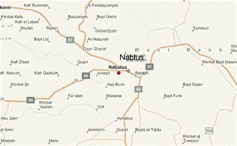 nablus map nablus location guide
