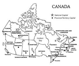 printable map of canada with provinces and territories