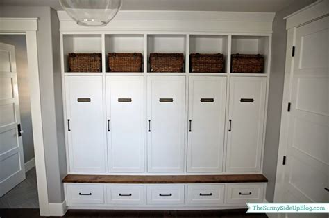 my new organized mudroom house tours built in lockers