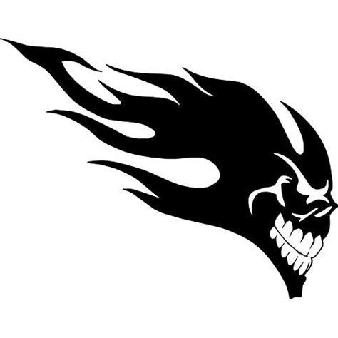 Tribal Sticker Skull by Flaming Skull Tribal Sticker