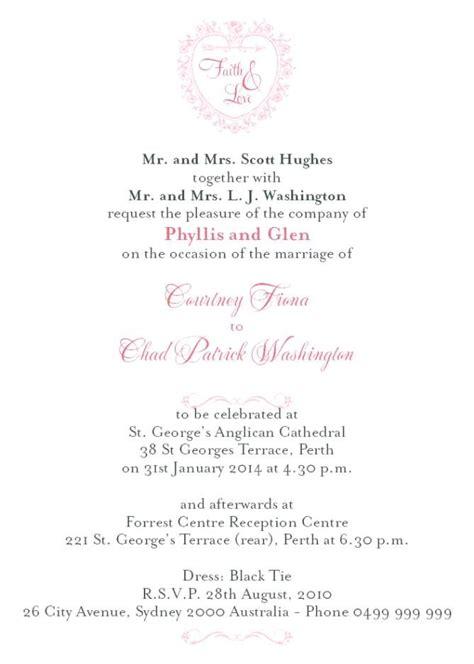 Wedding Invitation Wording Hosting by Formal Wedding Invitation Wording Hosting Wedding