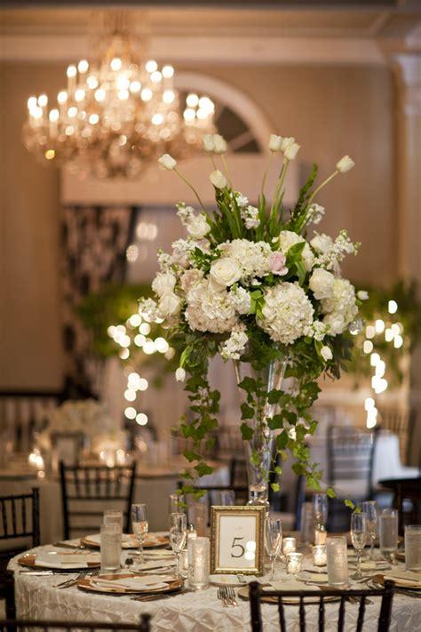 tall white wedding centerpiece elizabeth anne designs