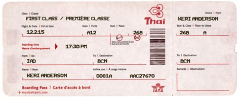 Boarding Pass Templates For Invitations Gifts Class Pass Template