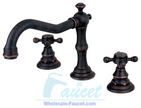 Bronze Plumbing Fixtures by Rubbed Bronze Bathroom Faucet Traditional Bathroom