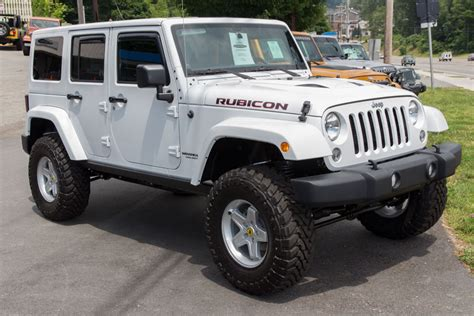 jeep rubicon white sport 2014 white jeep rubicon unlimited for sale