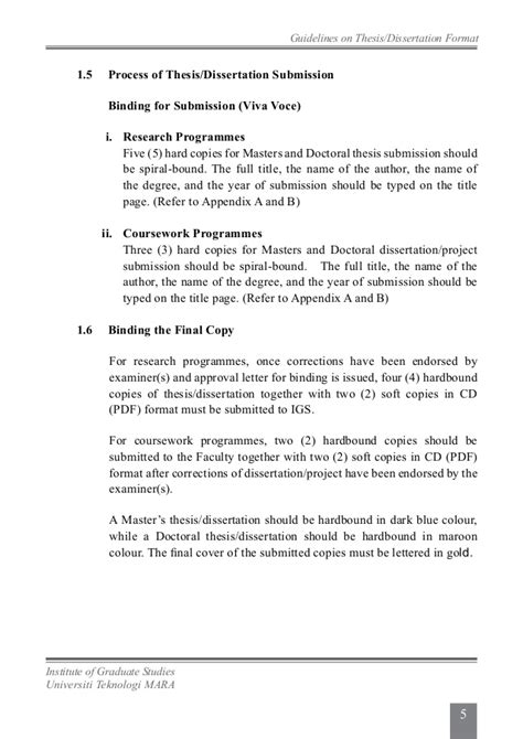submit dissertation uitm thesis guidelines 2013
