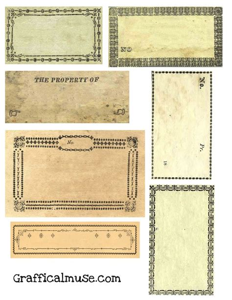 printable victorian tags free vintage labels from victorian era collage sheet