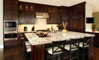 Traditional dark wood kitchen cabinets home design ideas