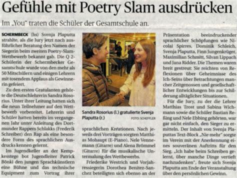 poetry slam dresden 2016 gesamtschule schermbeck