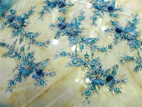 Aliexpress.com : Buy Blue 3D flowers handmade dress fabric