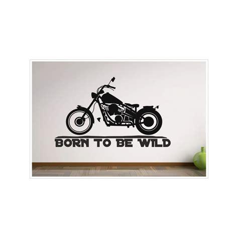 dekor aufkleber wohnzimmer born to be motorrad chopper bike aufkleber