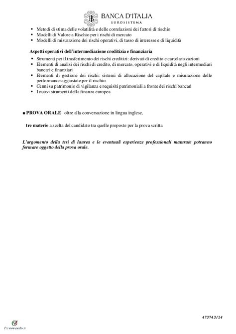 bando concorso banca d italia concorso 60 coadiutori banca d italia bando