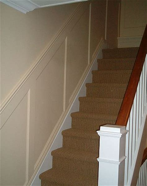 Wainscoting Usa by Recessed Paneled Wainscot Stair Application I Elite Trimworks