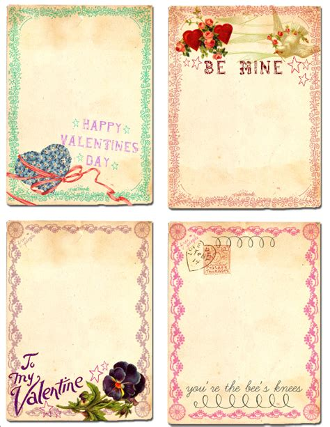 Free Card Papers - 50 free printables for valentines day