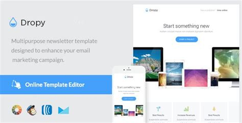 Dropy Email Template Online Editor Wordpress Theme Template Editor Free