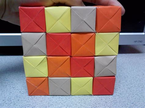 Moving Cubes Origami - origami moving cubes square formation by