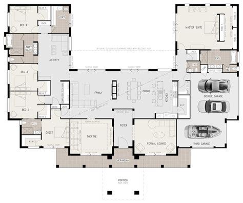 u shaped floor plans with pool 25 best ideas about u shaped houses on pinterest u
