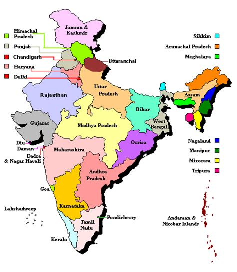 india map with country names india map