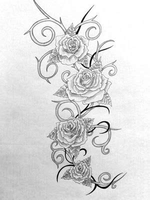 rose thorn tattoo designs roses and thorns less tribal more organic