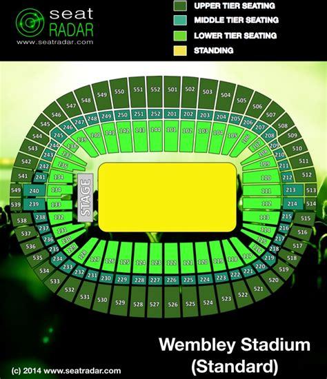wembley seat finder wembley stadium standard