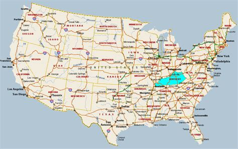 kentucky attractions map map usa kentucky