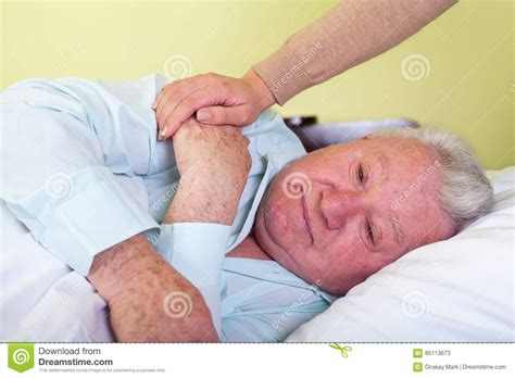 old bed guy depressed old man in bed stock photo image 85113673
