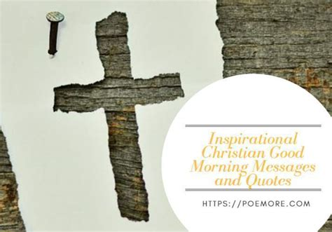 inspirational christian good morning messages  quotes