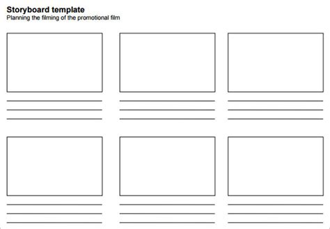 free storyboard templates for word simple storyboarding template 8 free word excel pdf