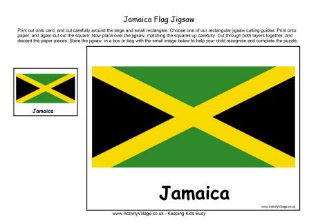what does the colors jamaica flag jigsaw