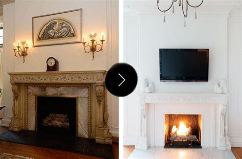 fireplace makeovers before and after before after gorgeous fireplace makeovers design sponge
