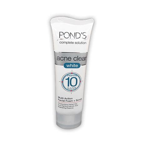 Ponds Wb 100g hypermart pond s cs acne clear white ff 50g