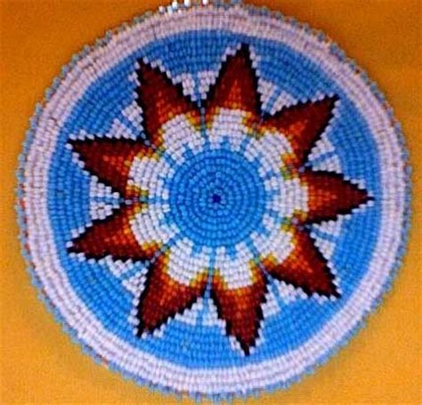lazy stitch beading my grandmother used to make these with no pattern using