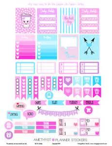 amethyst planner stickers free printable vintage glam