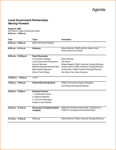 meeting agenda template in word 7 meeting agenda template word divorce document