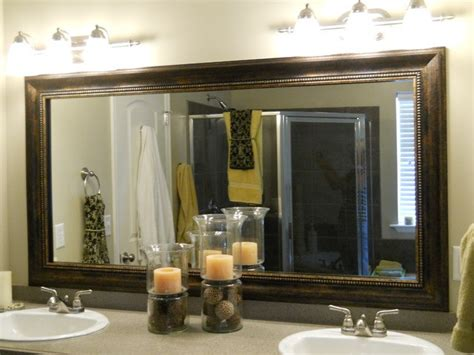 unique bathroom mirror frame ideas framed bathroom mirrors best way to give unique character