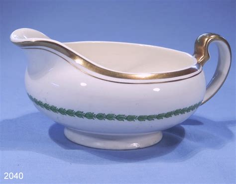 gravy boat alfred meakin green and gold vintage bone china sauce boat