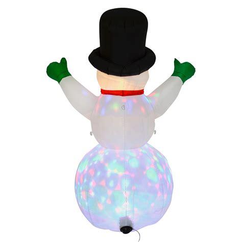 outdoor light up snowman xl 6ft inflatable snowman outdoor decoration light up led