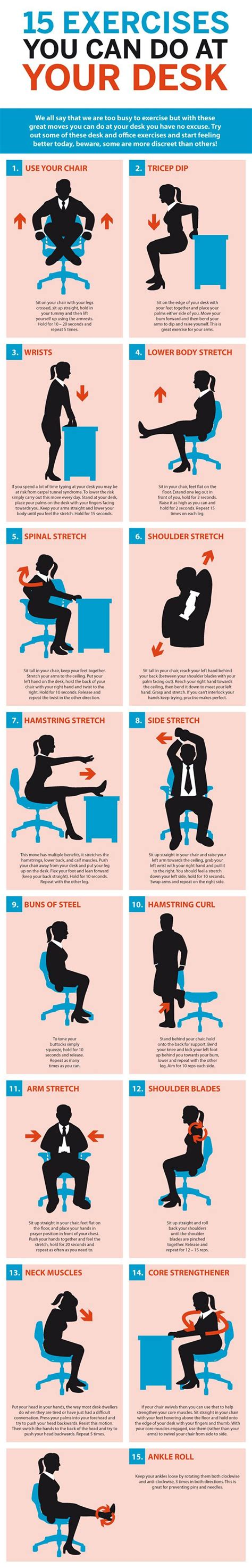 Exercise To Do At Your Desk by 1000 Images About Exercises At Work On Anxiety And The