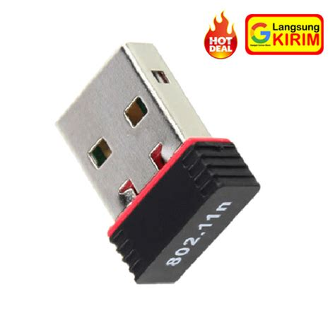Usb Wireless Adapter Murah jual usb wifi dongle mini adapter hotspot receiver laptop