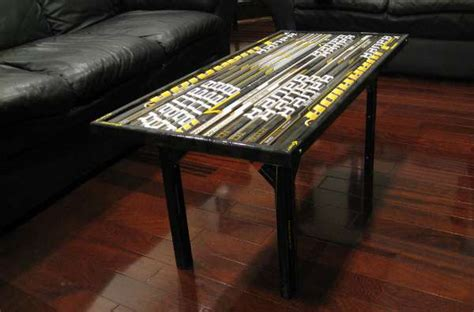 hockey stick coffee table coffee table composite hockey stick builds