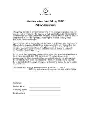 map pricing agreement template marriage agreement after marriage forms and templates